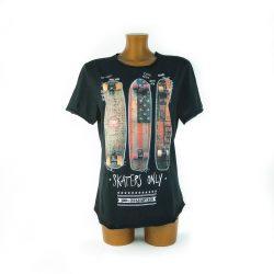 T-Shirt Skaters Only Settebarrauno